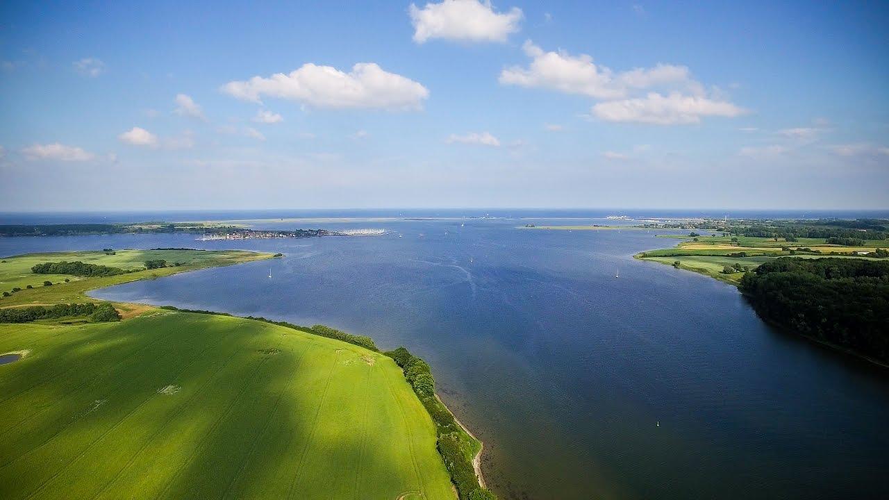 Langsamzeit: Schlei und Ostsee von oben