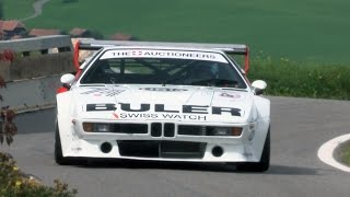 EPIC BMW M1 Procar, two of this Monsters at Swiss Hillclimb Gurnigel 2015.