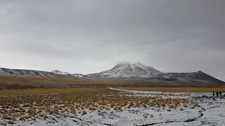Zima na pustyni - wysokość 3800m - dzienniki