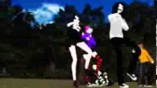 {MMD} jane, nina, jeff the killer VS normal jane, nina, jeff