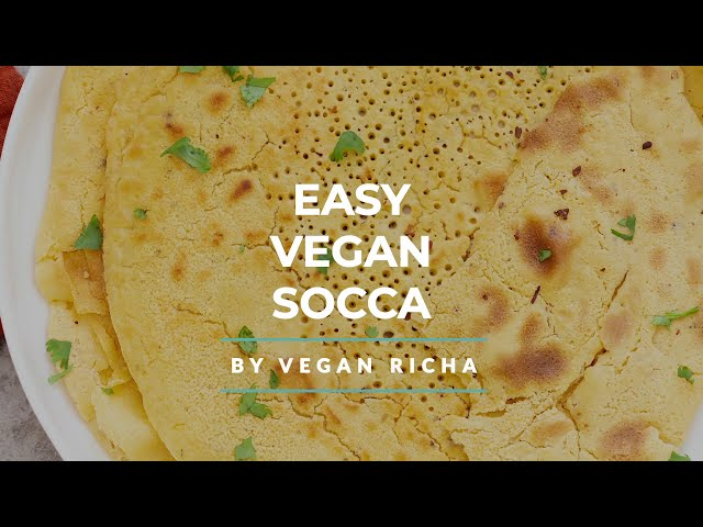VEGAN SOCCA – CHICKPEA FLATBREAD GLUTEN-FREE | Vegan Richa Recipes