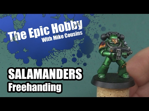 Painting Salamanders in Metallic - Freehand Flames and Details - The Epic Hobby