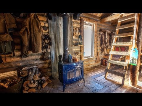 Cabin Life Below Zero: Joe Robinet Visits My Off Grid Log Cabin, Winter Camping and Ice Fishing