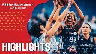 Greece v France - Хайлайты - Semi-Final - FIBA EuroBasket Women 2017