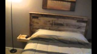 Headboard Built With Pallet Wood