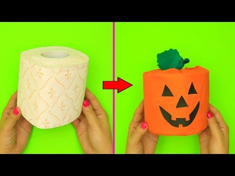 DIY Paper Pumpkin Craft Ideas | Halloween Paper Craft Ideas