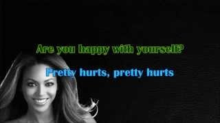 Beyoncé - Pretty Hurts (Karaoke/Instrumental) with lyrics [Official Video]