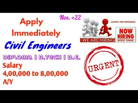 Hurry Up Civil Engineers || CHD Developers Ltd Company Hiring Limited Vacancies for Civil Engineers