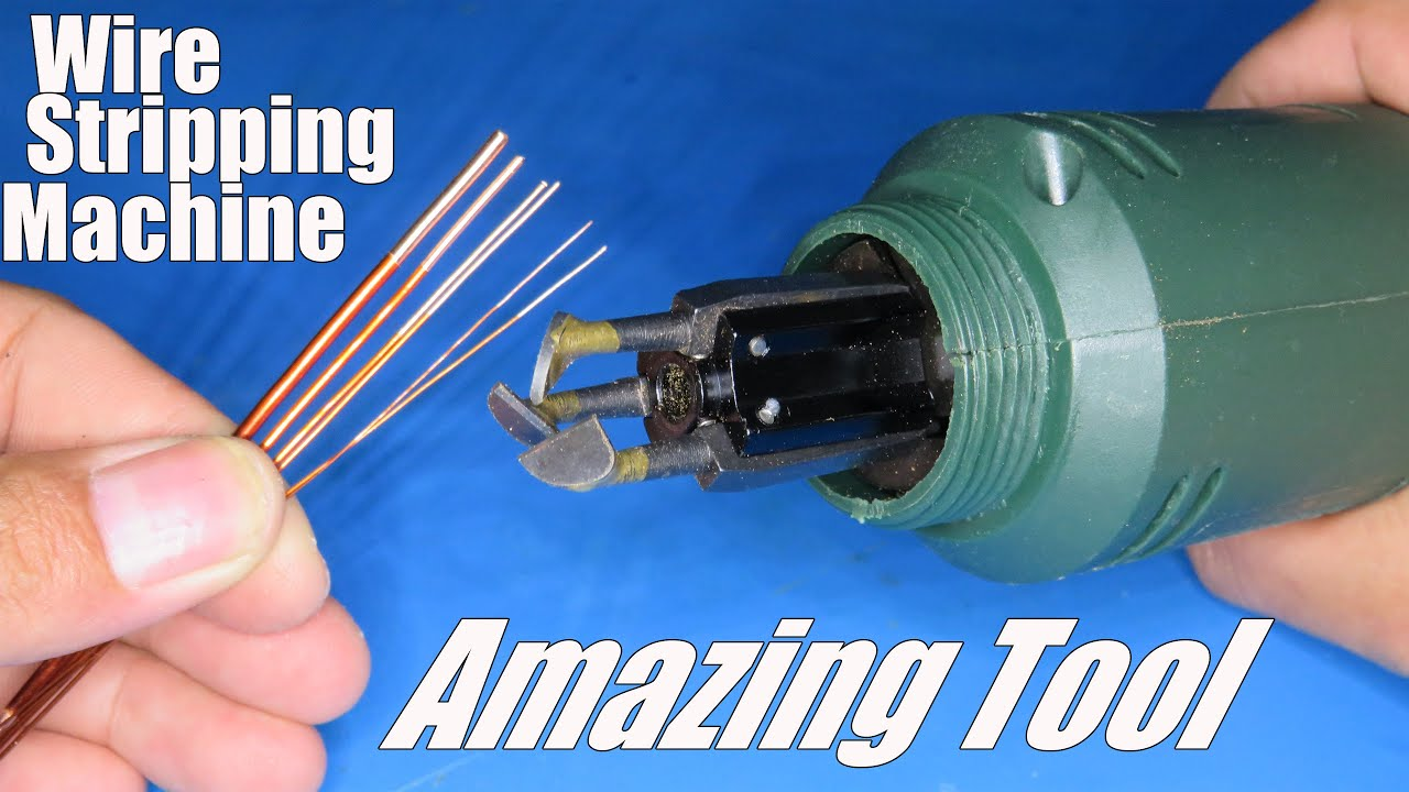 Wire stripping machine Review and Test   Amazing tool