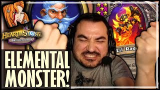 MILLHOUSE IS AN ELEMENTAL MONSTER! - Hearthstone Battlegrounds