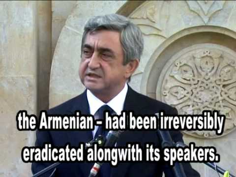 Deir ez Zor is the Auschwitz of the Armenians, Serzh Sargsya