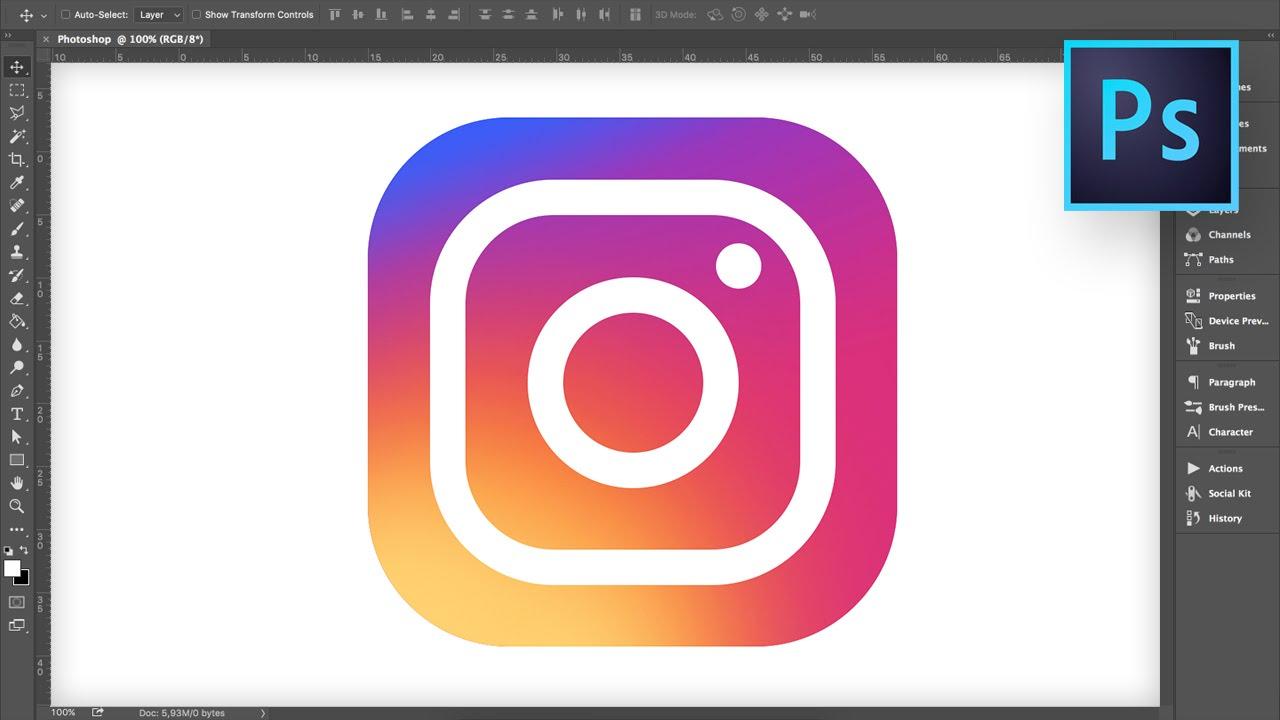 instagram logo tutorial photoshop youtube. Black Bedroom Furniture Sets. Home Design Ideas
