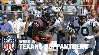 Rahim Moore Intercepts Cam Newton on a Tipped Pass | Texans vs. Panthers | NFL