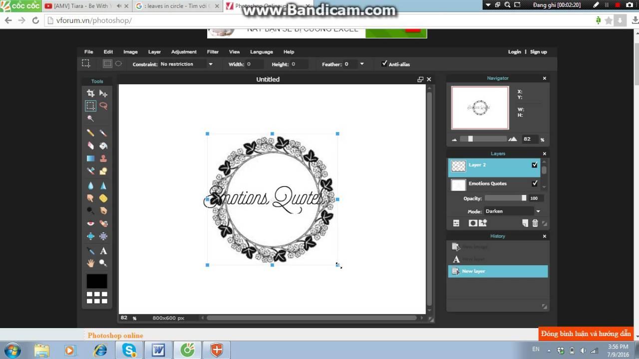 Cách làm logo tròn đơn giản bằng photoshop online