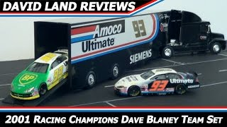 2001 nascar hauler team set review dave blaney amoco ultimate dodge racing champions 1 64