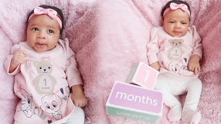 1 month baby update ( Raw and Uncut) Sophia Rose