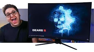 The MSI MAG321CURV Gaming Monitor Is Great Console Gaming!