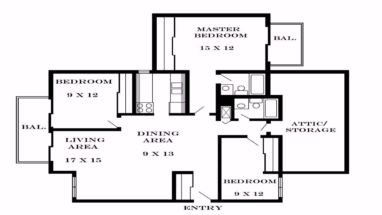 Simple 3 Bedroom House Floor Plans Single Story (see