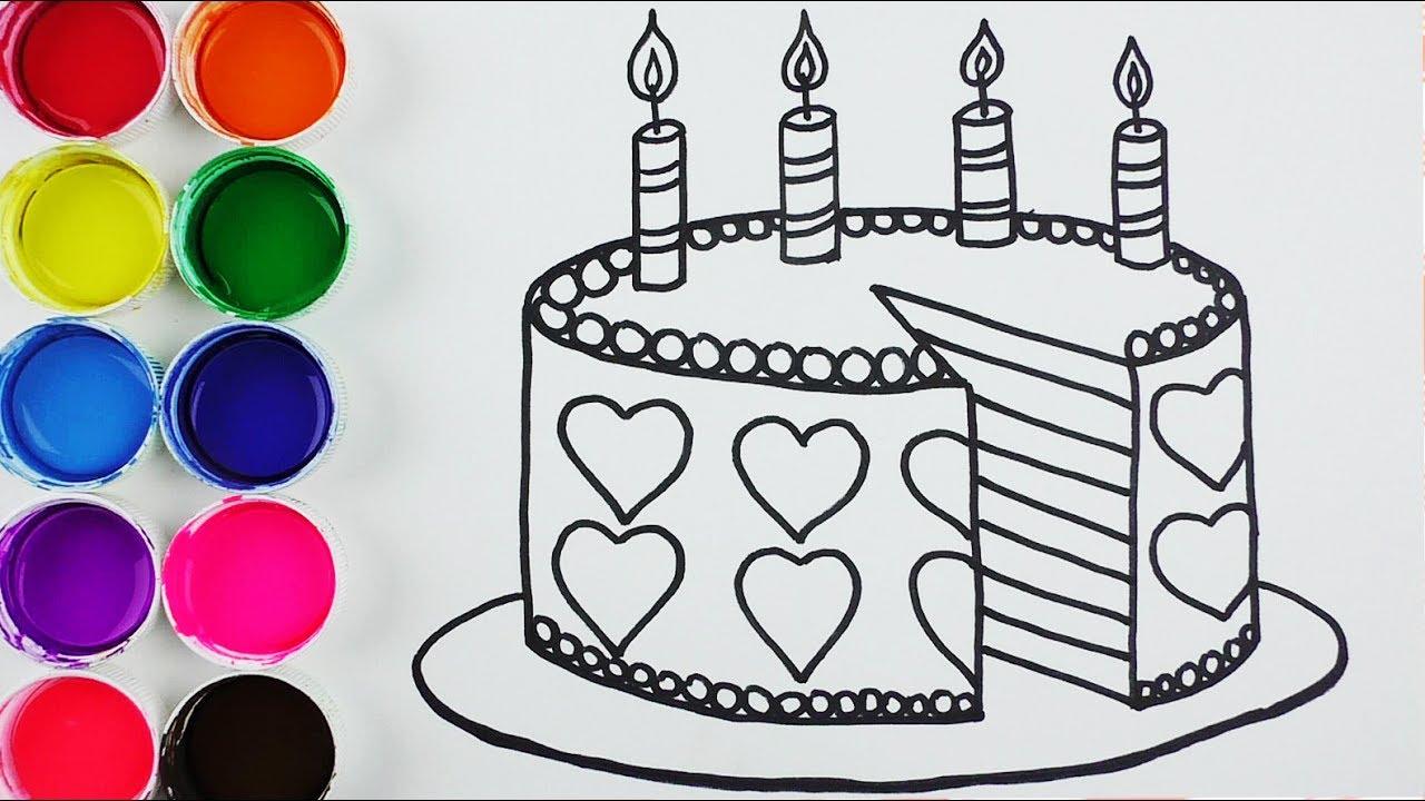 Cómo Dibujar y Colorear Torta de Arco Iris - Arte y Colores Para ...
