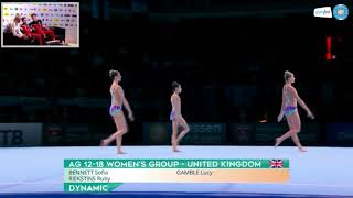 World Age Group Acrobatic Championships 2018 - GREAT BRITAIN 1 12-18 WG Dynamic