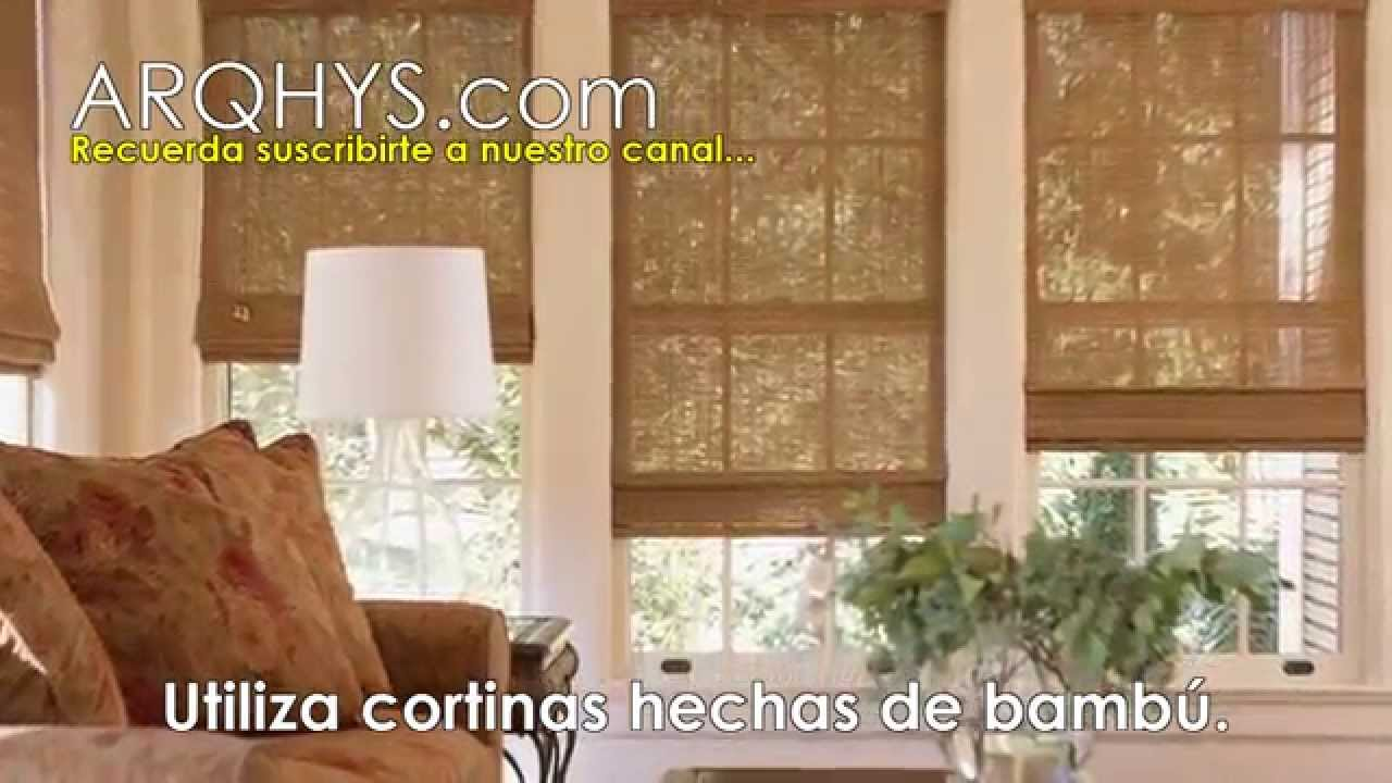 4 Ideas de decoracion con bambu  Cortinas alfombras