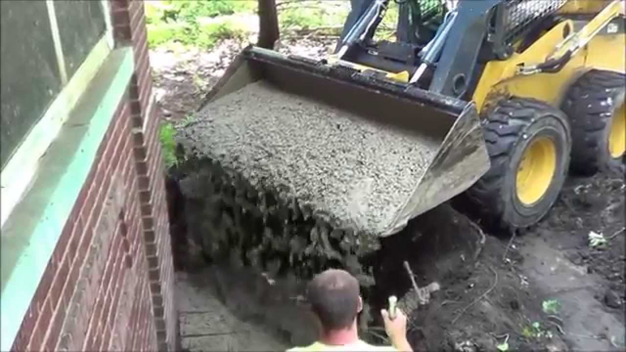 how to make concrete for deck sauna tubes