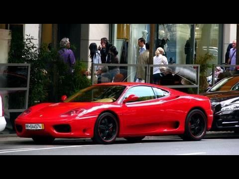 Ferrari 360 Modena Red With Black Rims Konigsallee