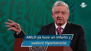 Ante la pandemia por coronavirus, el presidente mexicano Andrés Manuel López Obrador, es considerado población de riesgo debido a sus 67 años de edad y los problemas de salud que ha presentado