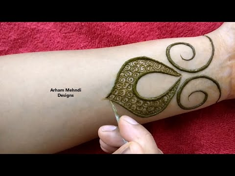New Stylish And Easy Mehndi Design For Front Hand || Arham Mehndi Designs