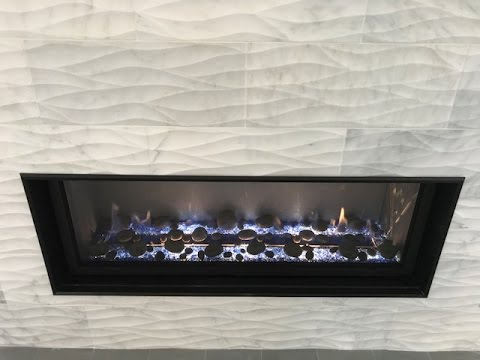 How to install Tile on a Linear Fireplace - Time Lapse