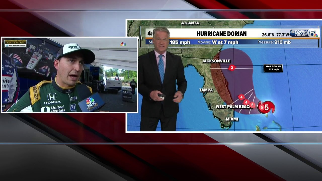 4pm Hurricane Dorian update - 9/1/19