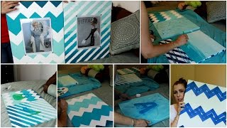 DIY Wall Ombre Painted Canvas