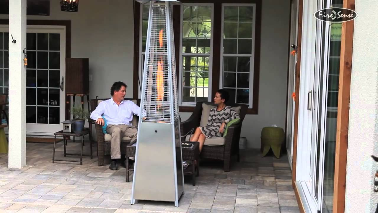 Fire Sense Pyramid Flame Heater 60523, 40000 BTU, Stainless Steel