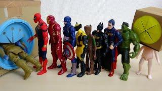 アベンジャーズ マーベルヒーロー アイアンマン バットマン スマイルスポンジすぽすぽ星人がやってきた