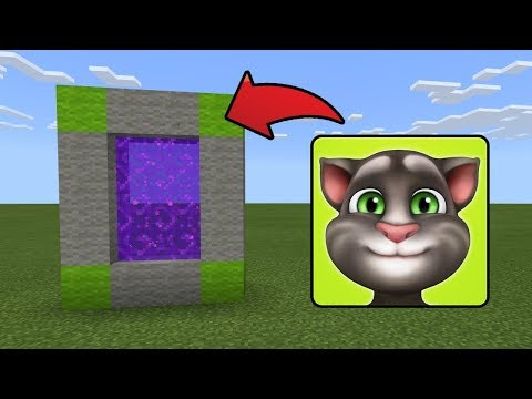 How To Make a Portal to the Talking Tom Dimension in MCPE (Minecraft PE)