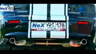 NeX® - _Mitsubishi Lancer X Restyle с 2011 г. ЭКСКЛЮЗИВ! Глушитель раздвоенный, нерж.насадки 76 мм.
