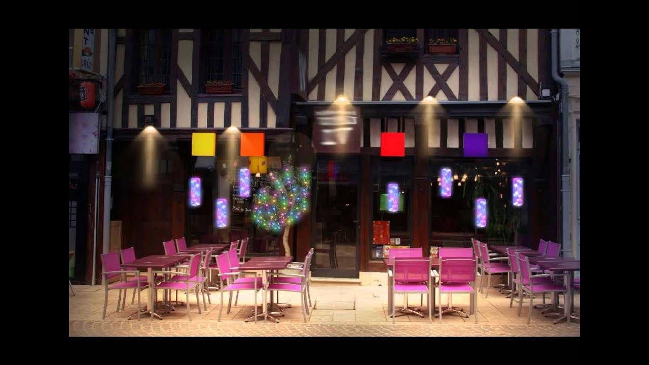Décor de vitrine restaurant festilight youtube