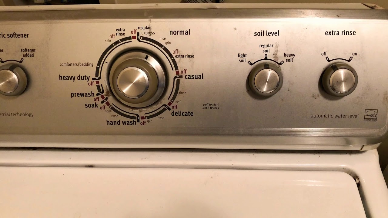 Washer Agitating And Filling Also Leaving Clothes Wet Whirlpool Maytag Washer Appliance Repair Youtube