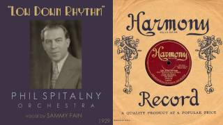 1929, Low Down Rhythm, Phil Spitalny Orch. Hi Def, 78RPM