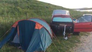 camping at st ninians isle shetland on 16 aug 2015