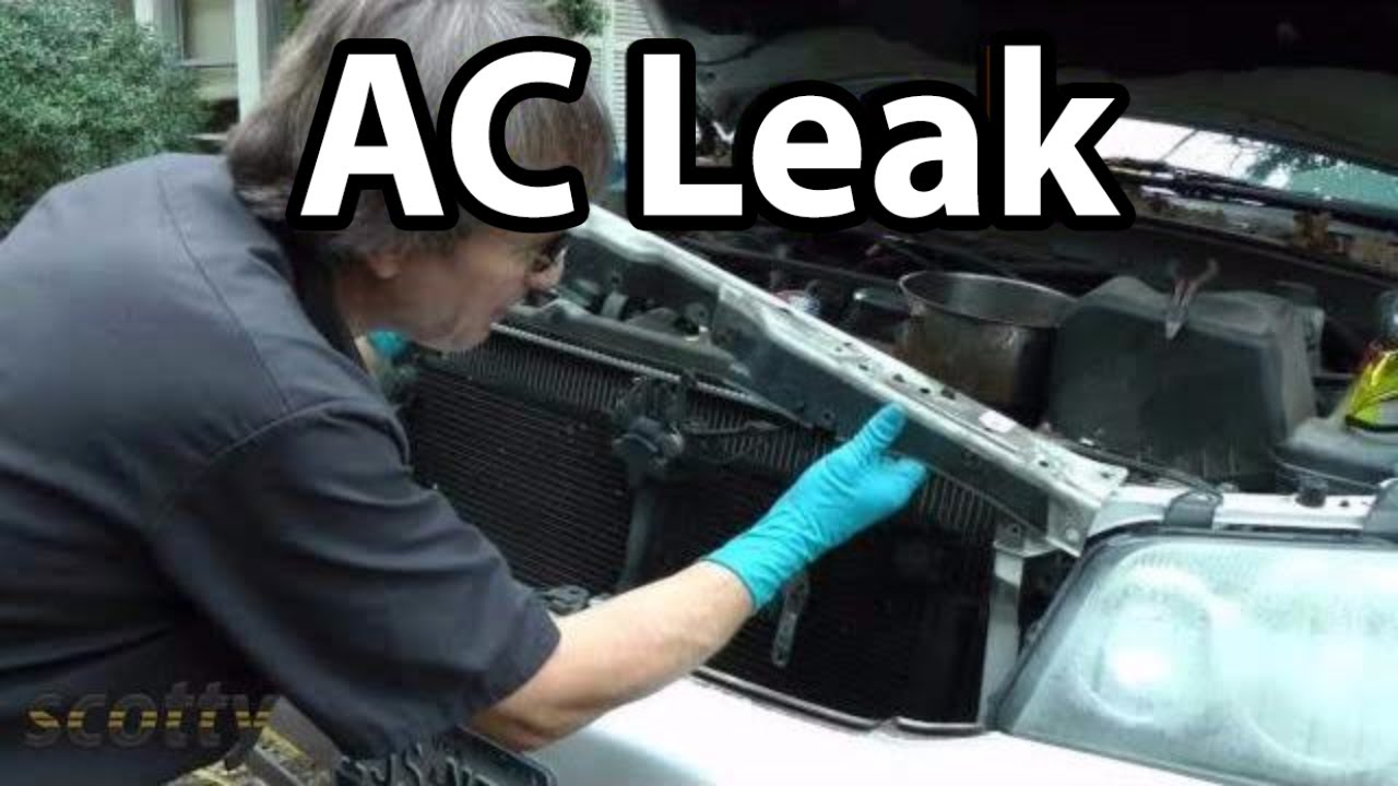 How To Fix Small Ac Refrigerant Leaks On Your Car Youtube