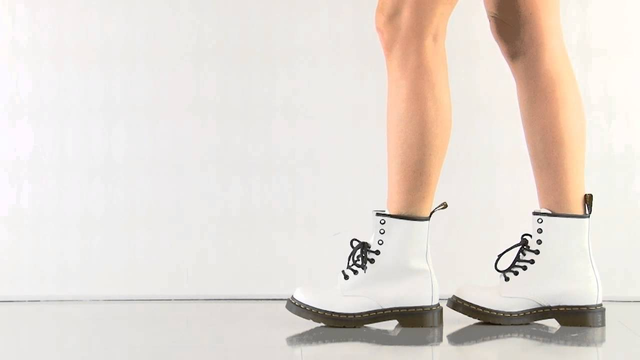 enjoy clearance price stable quality cheap 1460 W in White Smooth Dr Martens - YouTube