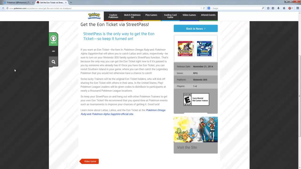 How to get Eon Ticket Omega Ruby/Alpha Sapphire