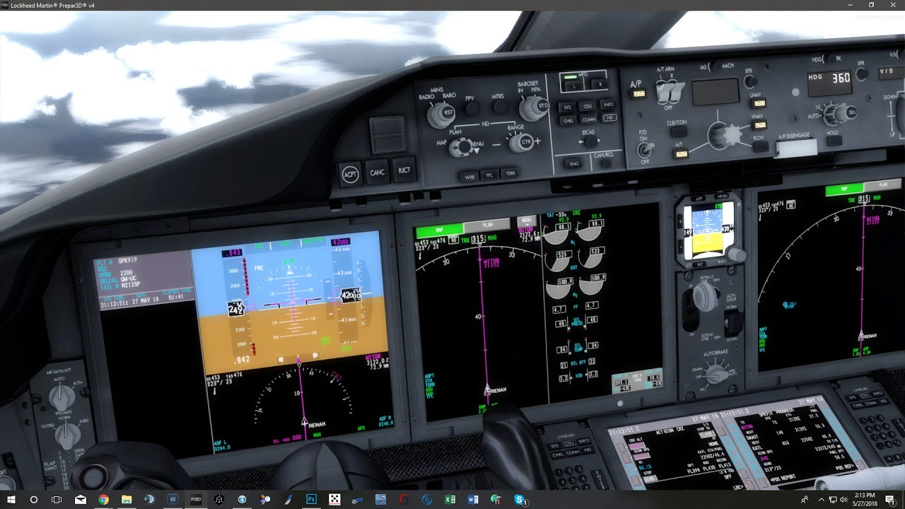 QualityWings 787 Screen Flash 2