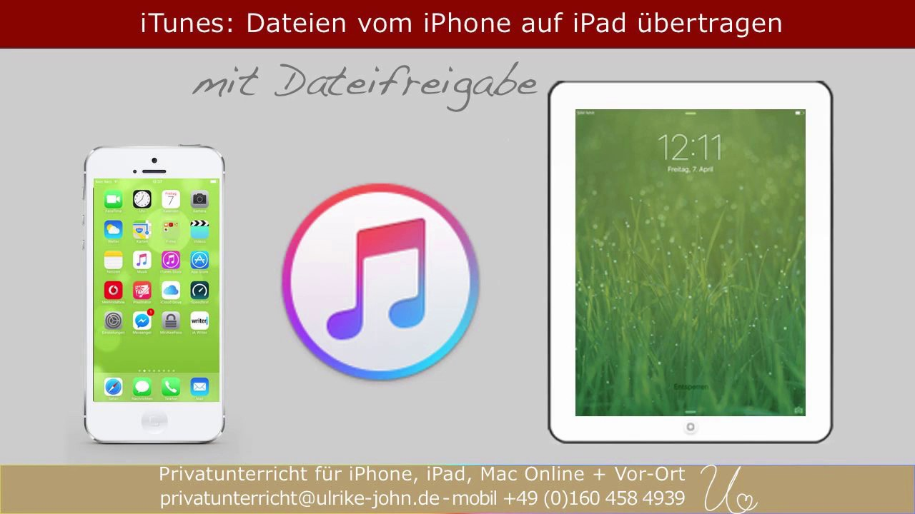 dateien vom iphone auf ipad bertragen via itunes youtube. Black Bedroom Furniture Sets. Home Design Ideas
