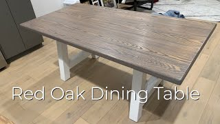 Making A Red Oak Dining Table Youtube