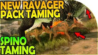 NEW DOUBLE RAVAGER PACK TAMING + SPINOSAURUS TAMING- ARK Survival Evolved Aberration Gameplay Part 4