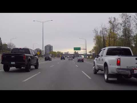 Drivng to Surrey BC Canada from Vancouver - Highway 1 - Port Mann Bridge