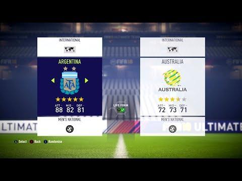 FIFA 18 - International Teams Ratings & Kits