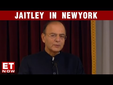 FM Arun Jaitley's India Pitch In The US